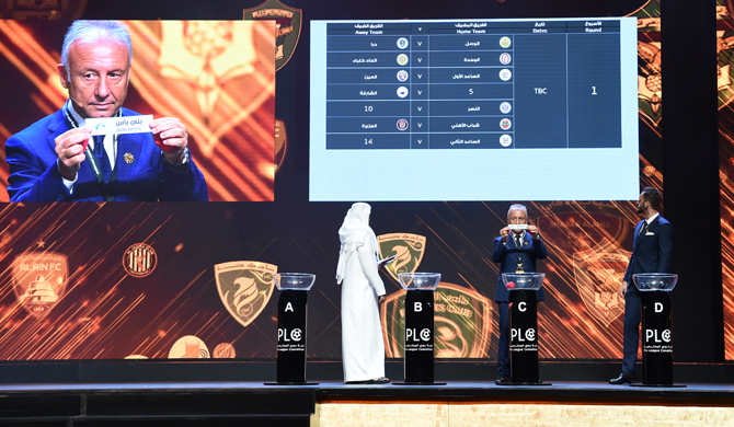 Arabian Gulf League and Cup Fixtures Decided in 2018-19 Draw