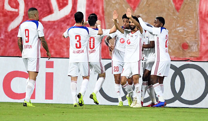Sharjah top the league table after an impressive 4-0 victory against Emirates